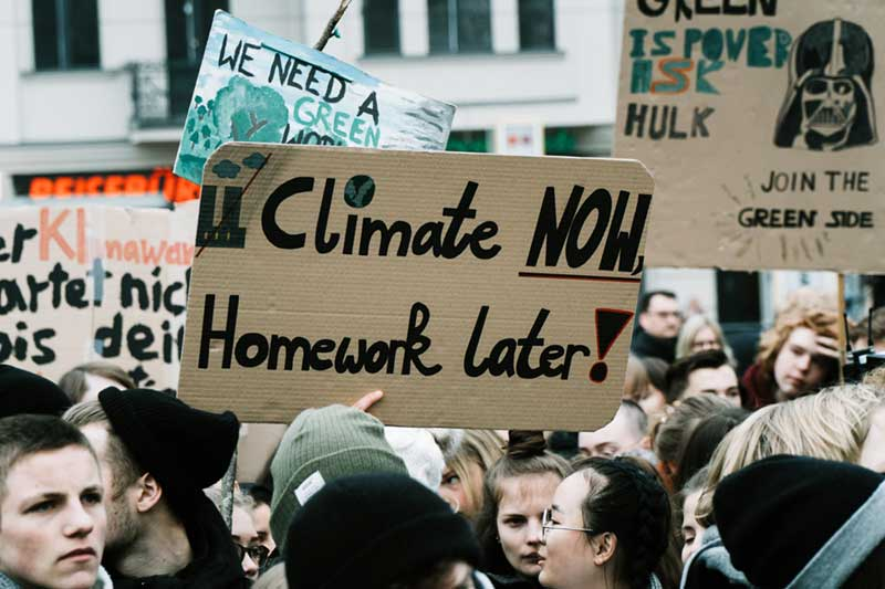 PHOTO: climate change demonstration