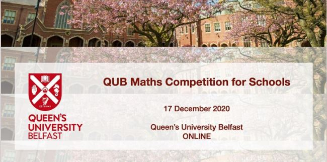 QUB Maths Competition for Schools 2020