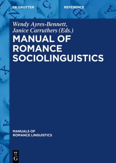 Front cover of Manual of Romance Sociolinguistics