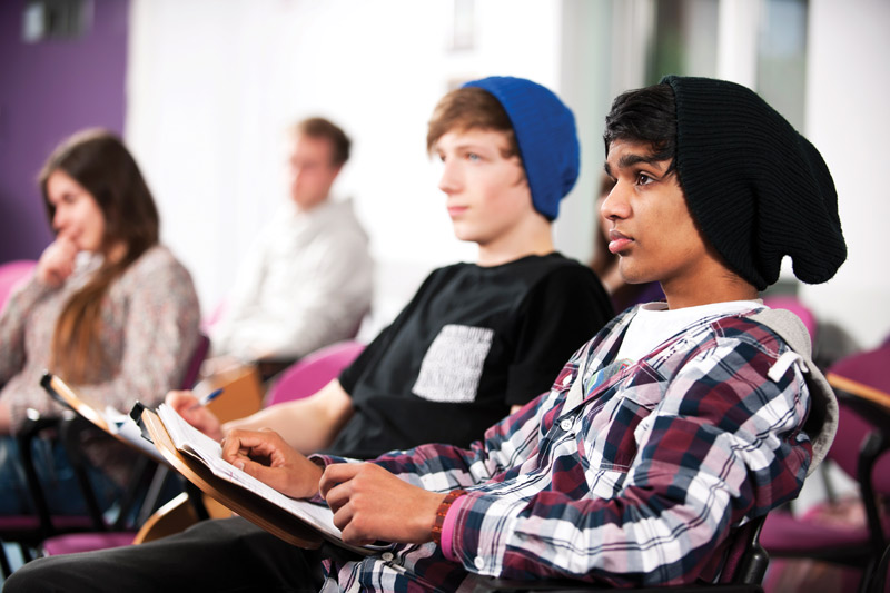 Group of teenagers in an educational setting