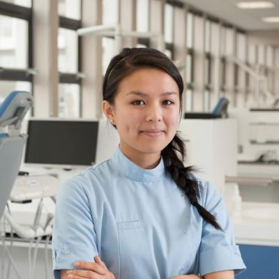 Dentistry Student in teaching lab