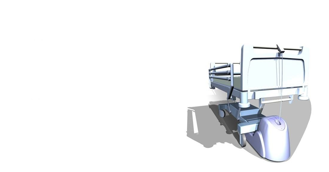 CAD model of hospital bed