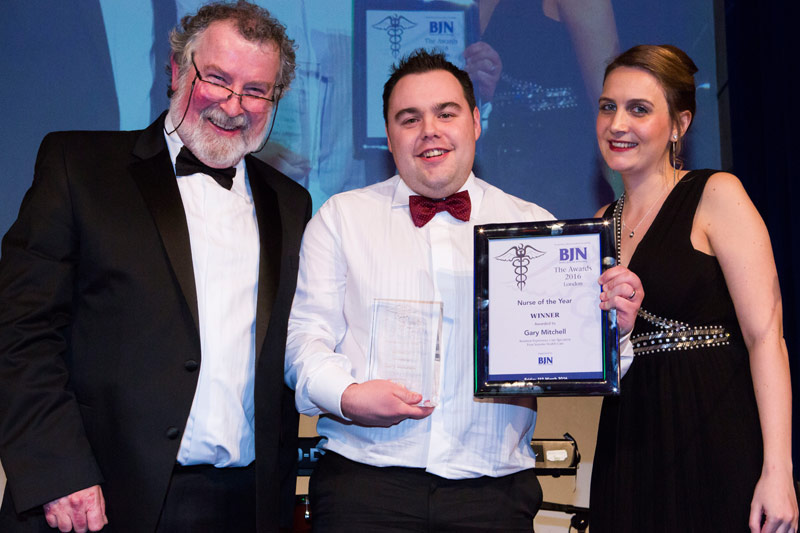 PHOTO: Gary Mitchell, BJN Nurse of the Year 2016