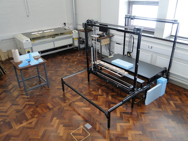 Complex prototyping equipment in a lab