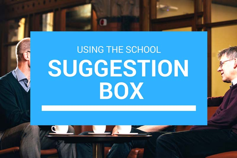 Image to represent link to School Suggestion Box