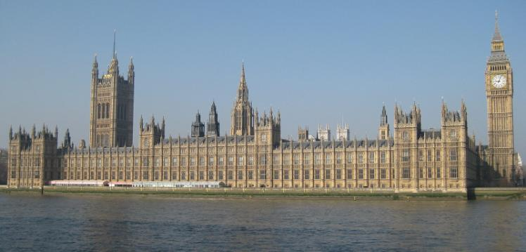 photograph of exterior of Parliament, London.