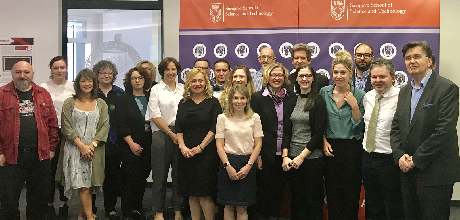 group photo of members of the ESRC Shared Education Network