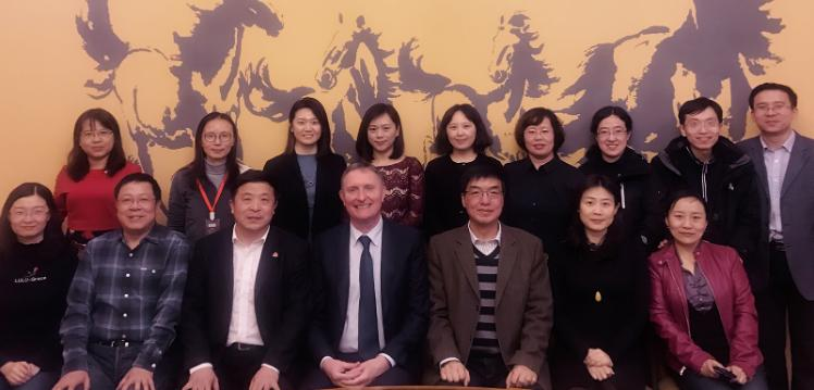 PGCHET students from China with Dr Joe Allen, Programme Director