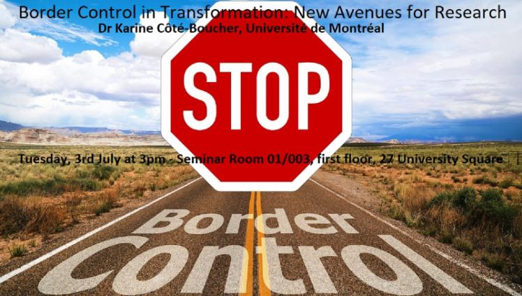 Border Control in Transformation poster - 3rd July 2018