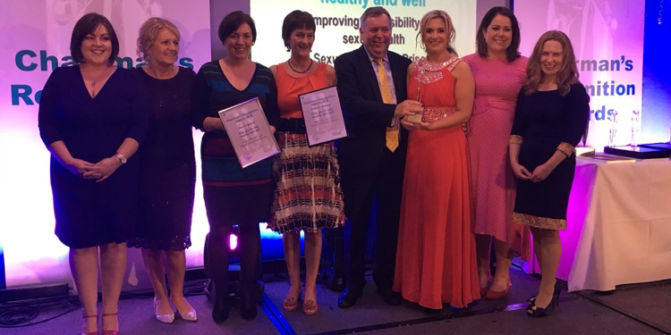 Dr Carmel Kelly, QUB Lecturer & Nurse Consultant South Eastern Trust, & team including Dr Michelle Templeton sweep up awards for pioneering nurse-led prison sexual health services and health promotion including 1st prize at South Eastern Trust Chairman Awards and two silvers at CIPR with Morrow Communications.