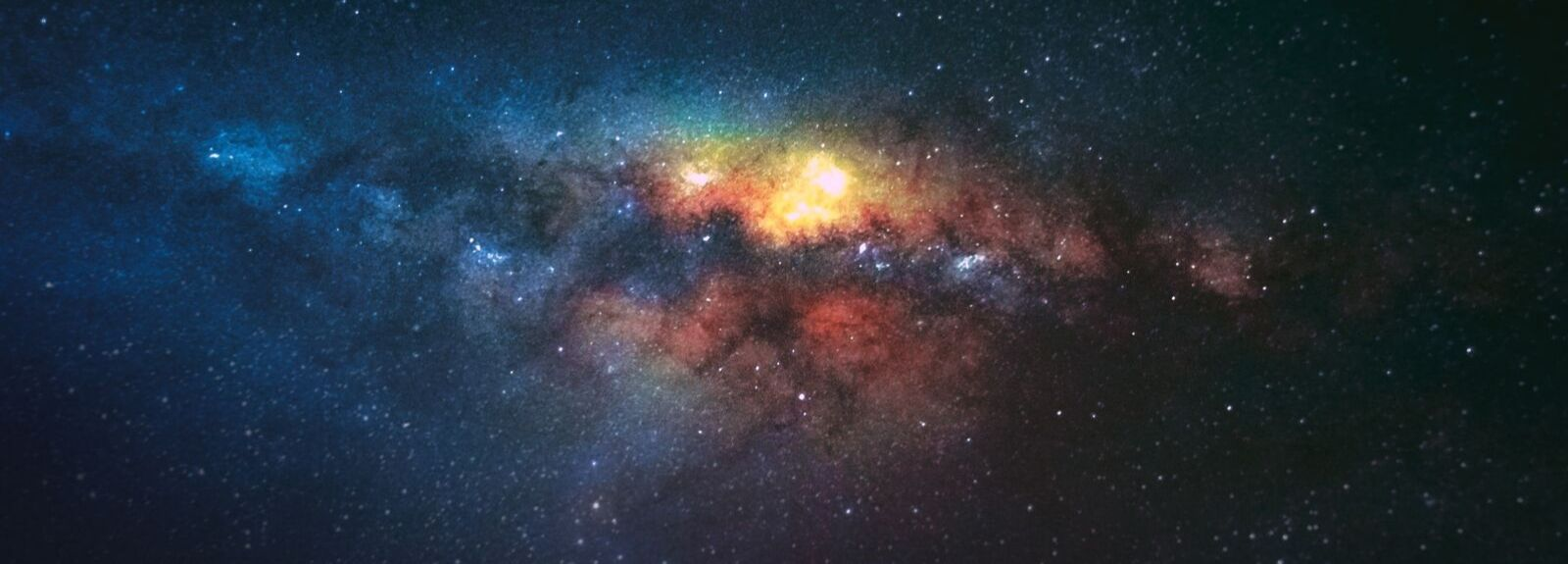 Colourful image of space