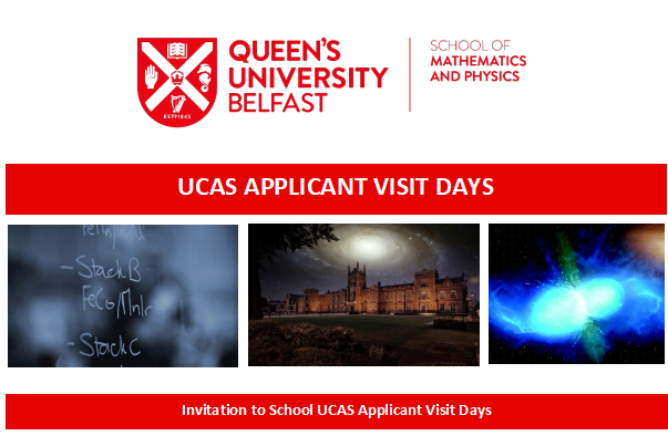 UCAS Applicant Visit Days  at the School of Mathematics and Physics