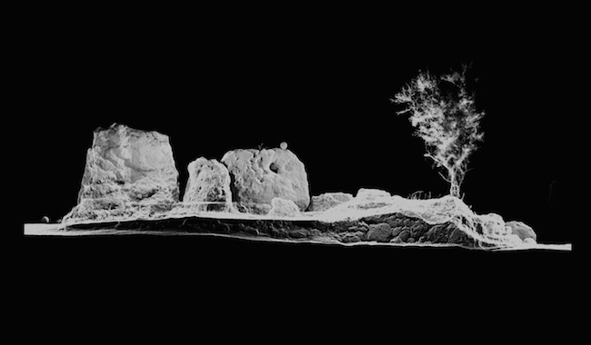 Figure 2: 3D laser scan of the facade stones, near the entrance of Santa Verna temple (courtesy of John Meneely).