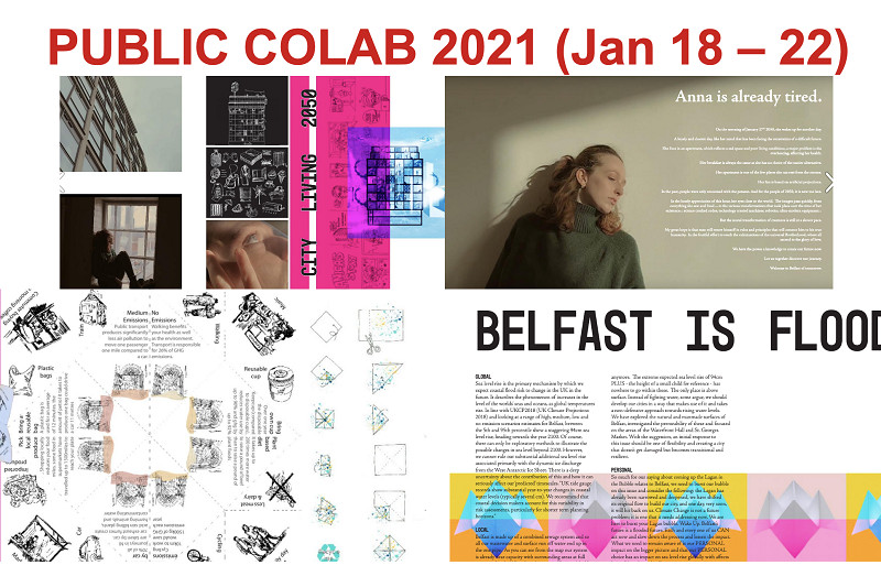 Public CoLab collaborative project collage of images
