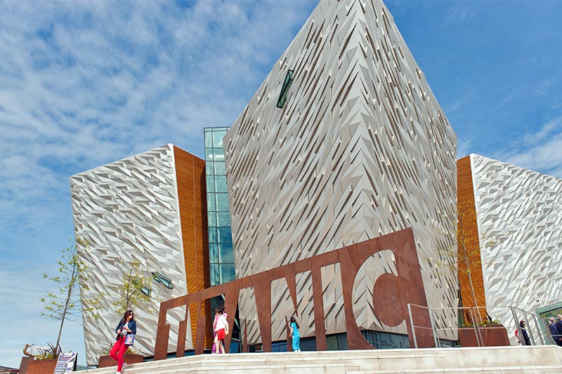 exterior of the Titanic Belfast Visitor Centre