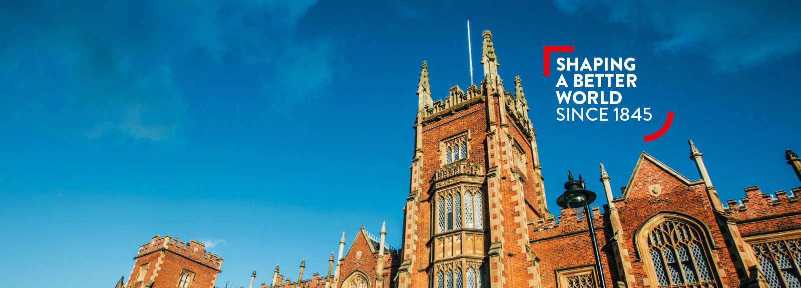 Queen's University Belfast - Shaping a better world since 1845 - Lanyon Building promotional image
