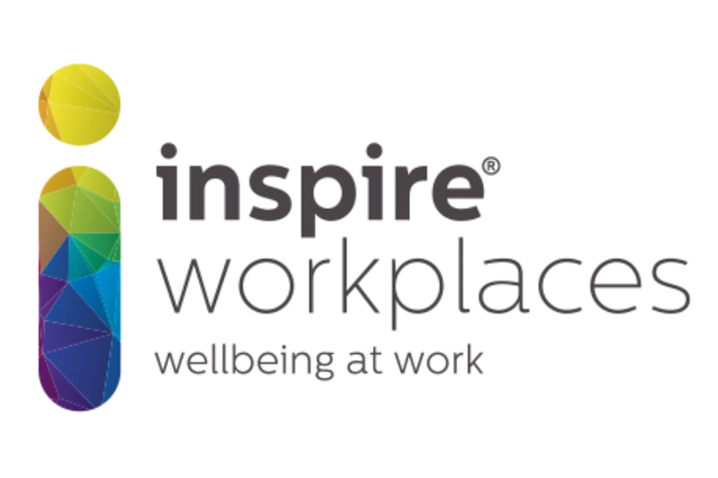 Inspire Workplaces logo with 'Wellbeing at work' strapline