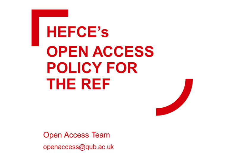 HEFECE Open Access
