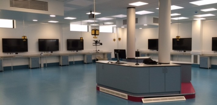 QUB Anatomy with new screens (not showing cadavers). Taken from architects website under fair use. https://www.samuel-stevenson.co.uk/projects/p/mortuary