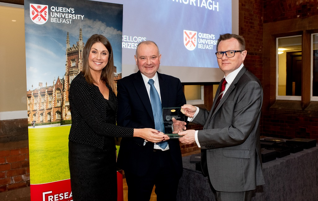 Brendan Murtagh, School of Natural and Built Environment, winner of the Research Impact Prize