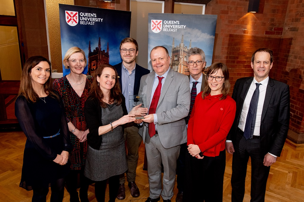 Modern Languages Core Disciplinary Research Group, School of Arts, English and Languages, winners of the Research Culture Prize