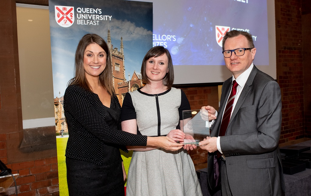 Dr Kathryn McNeilly, School of Law, winner of the Early Career Researcher Prize