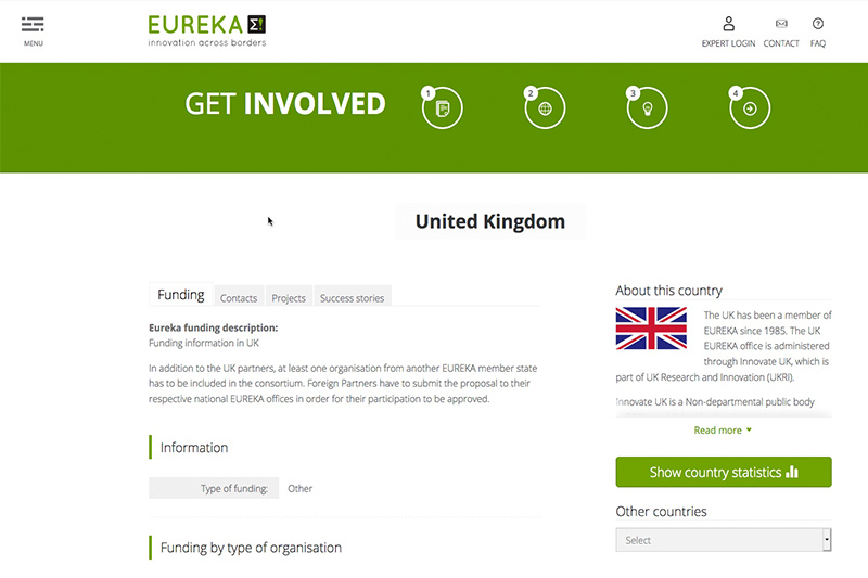 EUREKA website image