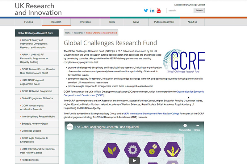 GCRF website image