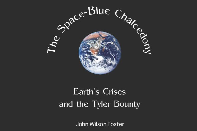 Book cover for The Space-Blue Chalcedony