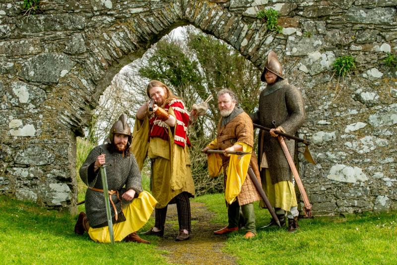 Irish Medieval soldiers at Dundrum Castle