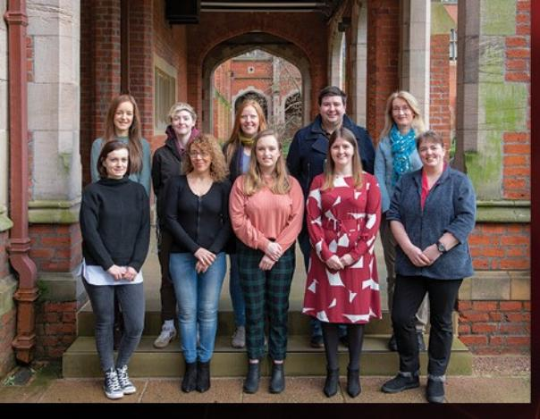 Image of our team at the Lanyon steps in 2019